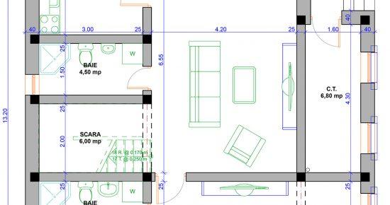 plan casa cu mansarda peste 75000 euro