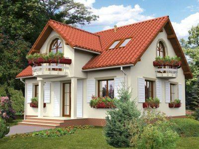 Casa parter cu mansarda rustica 160mp