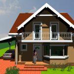 Proiect Casa P+M 144mp - Pret 860 Euro