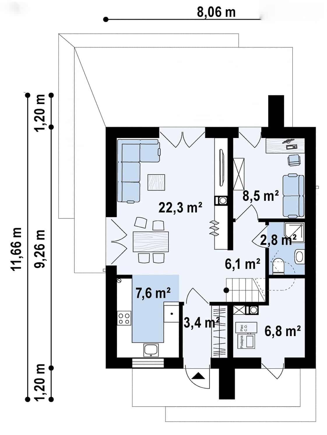 Casa parter-etaj 150mp parter