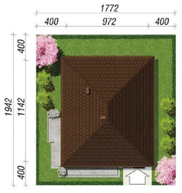 Proiect casa parter 2 Dormitoare si o baie 101mp necesar parcela