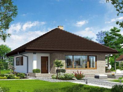 Proiect casa parter 2 Dormitoare si o baie 101mp v6