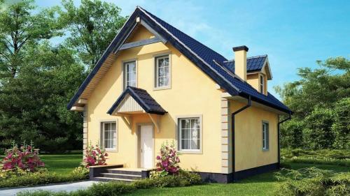 Casa mica cu mansarda 148mp v2