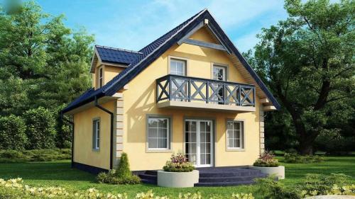 Casa mica cu mansarda 148mp